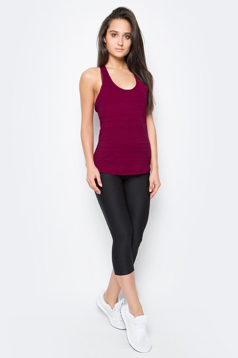 Майка для фитнеса женская Nike Victory Tank, цвет: бордовый. 726457-620. Размер M (44/46)726457-620Женская тренировочная майка Nike Victory можно носить тремя разными способами: как майку, как бра, а также их сочетание. Т-образная спина обеспечивает максимальный комфорт, а вшитое бра обеспечивает легкую поддержку во время тренировок.