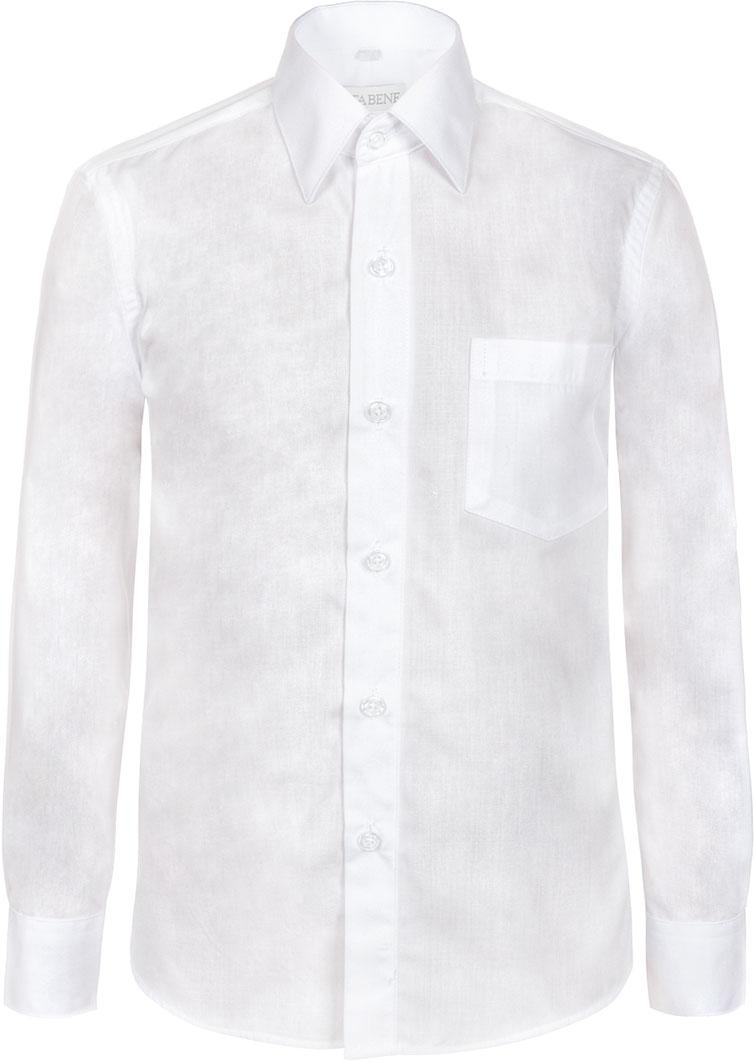 Рубашка для мальчика Nota Bene, цвет: белый. TC2DPRA01. Размер 140TC2DPRA01/TC2DPRB01Рубашка для мальчика Nota Bene приталенного силуэта выполнена из высококачественного хлопкового материала. Модель с классическим отложным воротником и длинными рукавами застегивается на пуговицы, на груди дополнена накладным карманом.