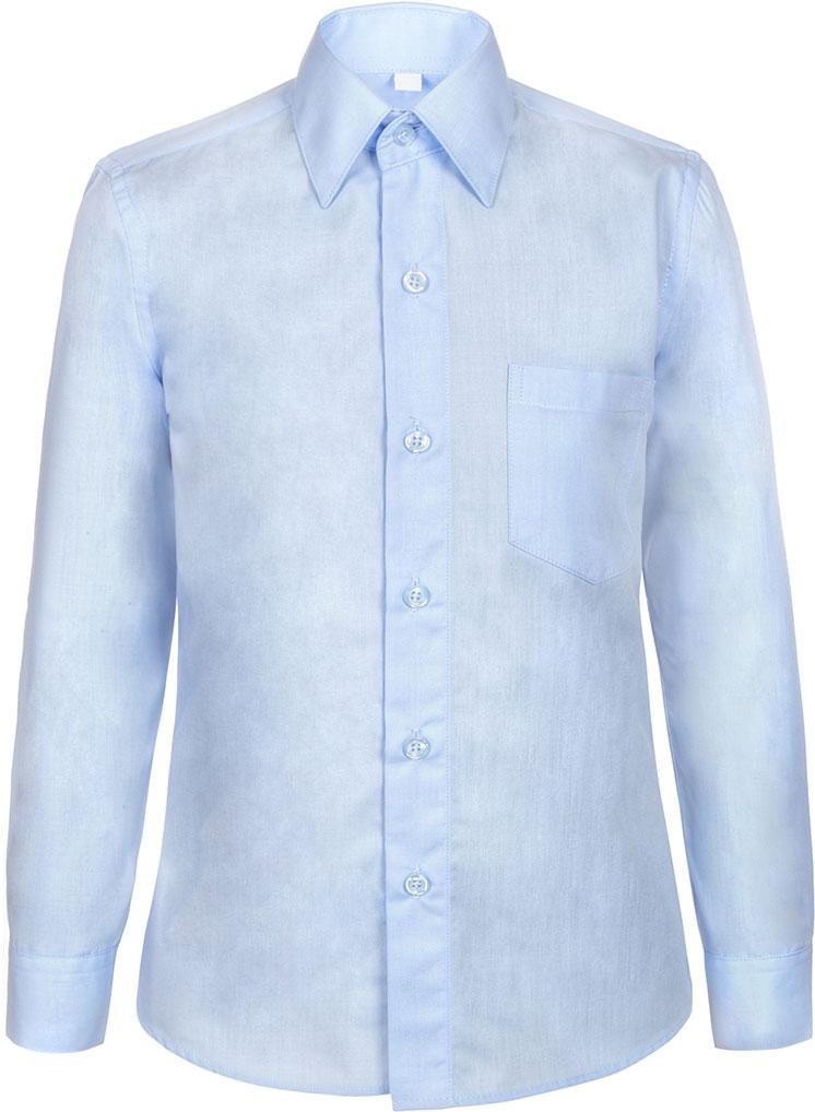 Рубашка для мальчика Nota Bene, цвет: голубой. TC27DPRB10. Размер 146TC27DPRA10/TC27DPRB10Рубашка для мальчика Nota Bene приталенного силуэта выполнена из высококачественного хлопкового материала. Модель с классическим отложным воротником и длинными рукавами застегивается на пуговицы, на груди дополнена накладным карманом