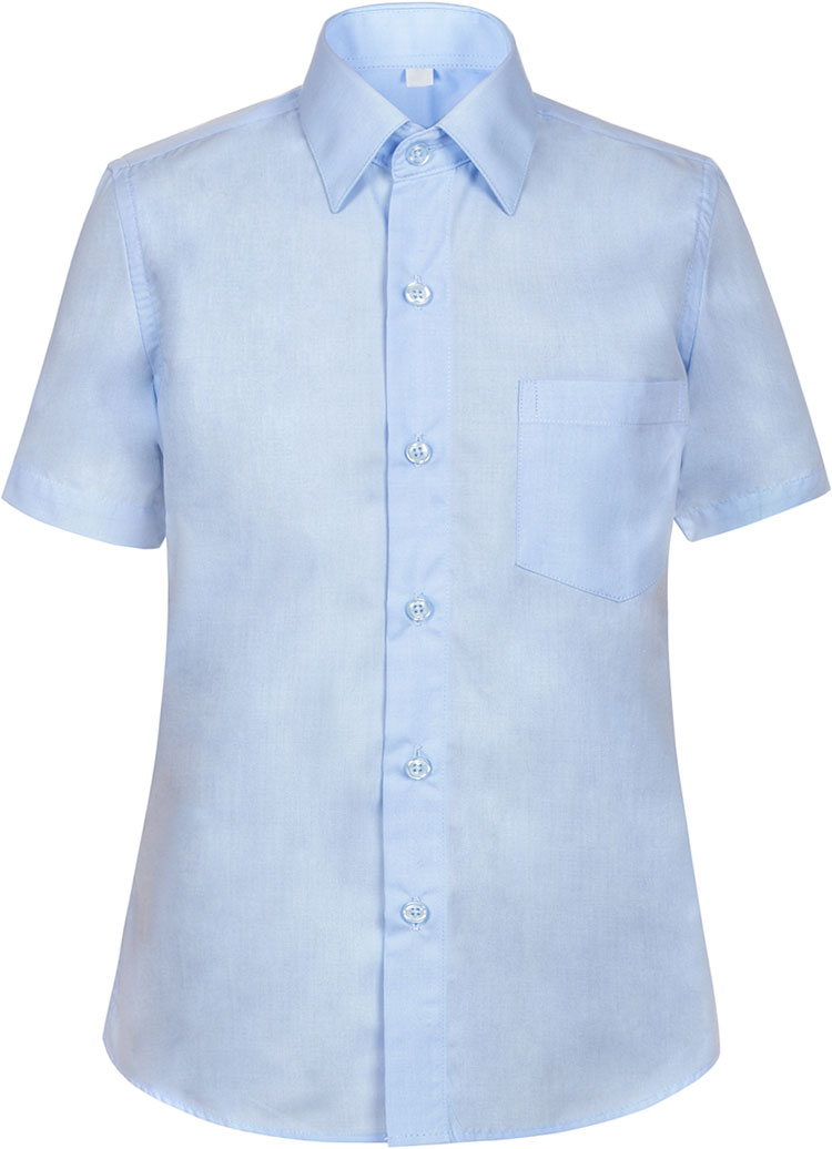 Рубашка для мальчика Nota Bene, цвет: голубой. TC27DSPRB10. Размер 164TC27DSPRA10/TC27DSPRB10Рубашка для мальчика Nota Bene приталенного силуэта выполнена из высококачественного хлопкового материала. Модель с классическим отложным воротником и короткими рукавами застегивается на пуговицы, на груди дополнена накладным карманом.
