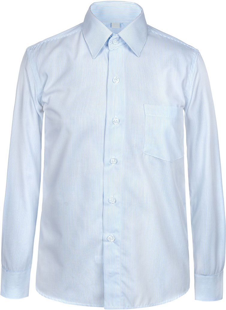 Рубашка для мальчика Nota Bene, цвет: светло-голубой. 7405DA23. Размер 1287405DA23Рубашка для мальчика Nota Bene выполнена из высококачественного хлопкового материала. Модель с классическим отложным воротником и длинными рукавами застегивается на пуговицы, на груди дополнена накладным карманом.