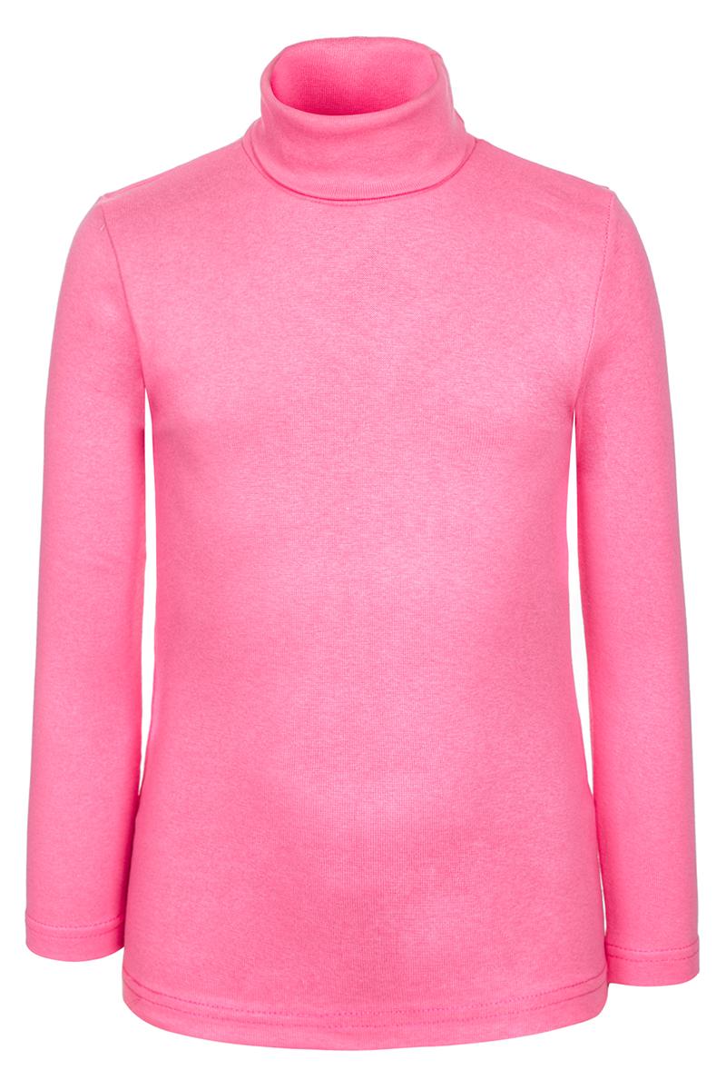 Водолазка для девочки M&D, цвет: розовый. Д20357. Размер 104Д20357Детская водолазка M&D выполнена из эластичного хлопка. Модель с длинными рукавами и воротником-гольф.