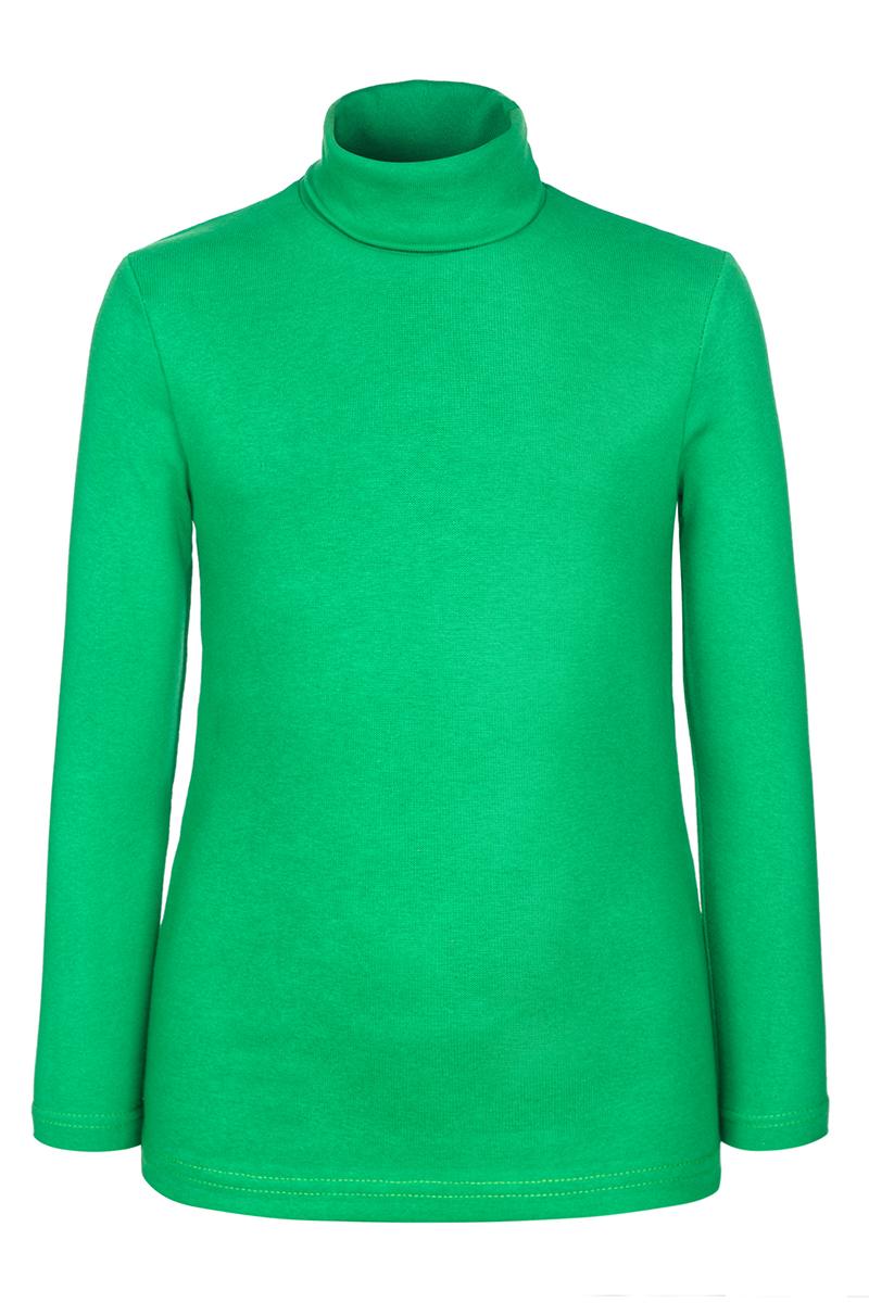 Водолазка для девочки M&D, цвет: зеленый. Д20313. Размер 104Д20313Детская водолазка M&D выполнена из эластичного хлопка. Модель с длинными рукавами и воротником-гольф.
