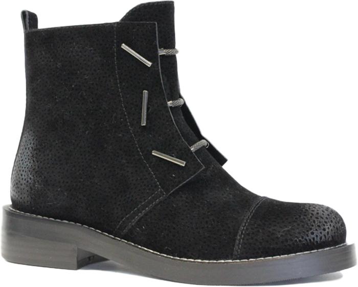 Ботинки женские LK Collection, цвет: черный. SP-FA3501-2 (SP-336-F31-5). Размер 39SP-FA3501-2 (SP-336-F31-5)Стильные женские ботинки от LK Collection заинтересуют вас своим дизайном с первого взгляда. Модель изготовлена из качественного нубука и полиуретана. Эластичные шнурки надежно зафиксируют обувь на ноге. Стелька и подкладка, изготовленные из натуральной кожи, обеспечат комфорт. Подошва и небольшой каблук с рифлением гарантируют отличное сцепление с различными поверхностями. Модные ботинки покорят вас своим оригинальным дизайном и удобством.