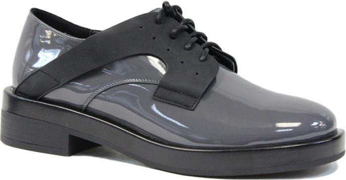 Полуботинки женские LK Collection, цвет: серый. SP-FA3601-1 (SP-351-F020-6). Размер 36SP-FA3601-1 (SP-351-F020-6)Стильные женские полуботинки от LK Collection заинтересуют вас своим дизайном с первого взгляда. Модель изготовлена из натуральной лакированной кожи и полиуретана. Классическая шнуровка надежно зафиксируют обувь на ноге. Стелька из натуральной кожи обеспечит комфорт. Подошва и небольшой каблук с рифлением гарантируют отличное сцепление с различными поверхностями. Модные полуботинки покорят вас своим оригинальным дизайном и удобством.