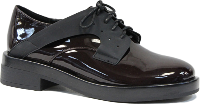 Полуботинки женские LK Collection, цвет: бордовый. SP-FA3601-2 (SP-351-F020-7). Размер 37SP-FA3601-2 (SP-351-F020-7)Стильные женские полуботинки от LK Collection заинтересуют вас своим дизайном с первого взгляда. Модель изготовлена из натуральной лакированной кожии полиуретана. Классическая шнуровка надежно зафиксируют обувь на ноге. Стелька из натуральной кожи обеспечит комфорт. Подошва и небольшой каблук с рифлением гарантируют отличное сцепление с различными поверхностями. Модные полуботинки покорят вас своим оригинальным дизайном и удобством.