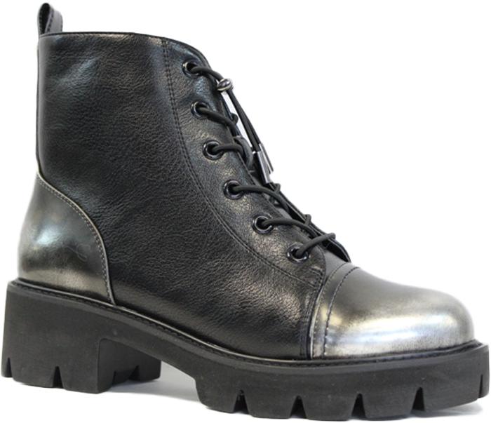 Ботинки женские LK Collection, цвет: черный. SP-RA0101-1 (SP-2399-R512-1). Размер 39SP-RA0101-1 (SP-2399-R512-1)Женские ботинки LK Collection заинтересуют вас своим дизайном с первого взгляда. Модель изготовлена из натуральной кожии полиуретана. Обувь фиксируется на ноге при помощи классической шнуровки и застежки-молнии сбоку. Стелька и подкладка, изготовленные из натуральной кожи, обеспечат комфорт. Подошва и небольшой каблук с рифлением гарантируют отличное сцепление с различными поверхностями. Модные ботинки покорят вас своим оригинальным дизайном и удобством.