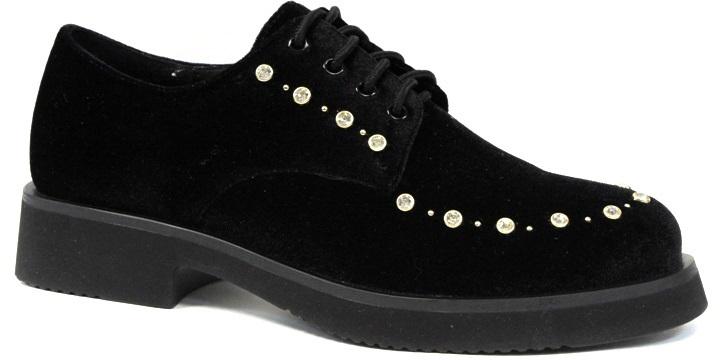 Полуботинки женские LK Collection, цвет: черный. SP-RA0201-1 (SP-2669-R1-1). Размер 36SP-RA0201-1 (SP-2669-R1-1)Стильные женские полуботинки от LK Collection заинтересуют вас своим дизайном с первого взгляда. Модель, изготовленная из натуральной кожи, оформлена стразами. Классическая шнуровка надежно зафиксирует обувь на ноге. Стелька из натуральной кожи обеспечит комфорт. Подошва с рифлением гарантирует отличное сцепление с различными поверхностями. Модные полуботинки покорят вас своим оригинальным дизайном и удобством.
