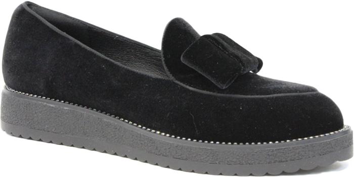 Туфли женские LK Collection, цвет: черный. SP-WA0502-1 (SP-291-W51-1). Размер 37SP-WA0502-1 (SP-291-W51-1)Модные женские туфли от LK Collection, выполненные из натуральной замши, на подъеме дополнены декоративным элементом. Стелька выполнена из натуральной кожи. Подошва с рифлением гарантирует отличное сцепление с различными поверхностями. Модные туфли покорят вас своим оригинальным дизайном и удобством.