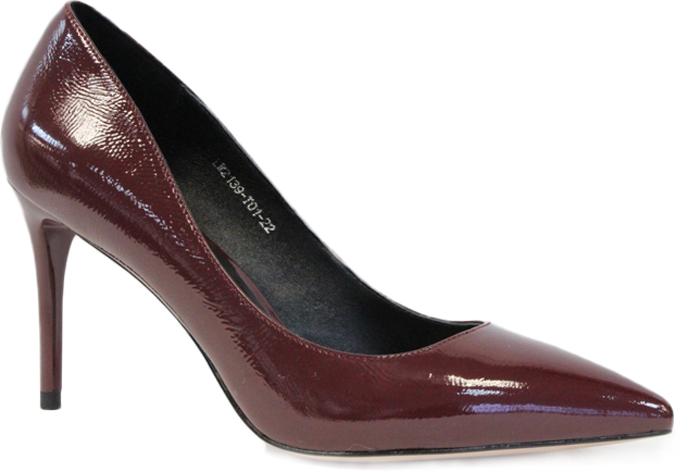 Туфли женские Graciana, цвет: бордовый. W2139-T01-22. Размер 39W2139-T01-22Женские туфли от Graciana на шпильке выполнены из натуральной лаковой кожи. Мысок заостренной формы придает модели изящности. Подкладка, изготовленная из натуральной кожи, обладает хорошей влаговпитываемостью и естественной воздухопроницаемостью. Стелька из натуральной кожи гарантирует комфорт и удобство стопам. Подошва из резины обеспечивает хорошую амортизацию и сцепление с любой поверхностью. Модные туфли помогут создать эффектный и незабываемый образ.