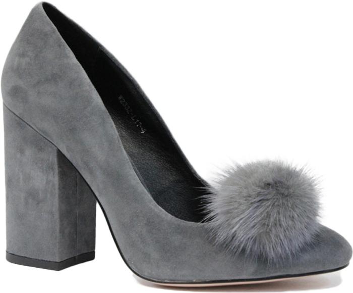 Туфли женские Graciana, цвет: серый. W2332-L11-3. Размер 37W2332-L11-3Женские туфли от Graciana на устойчивом каблуке выполнены из натуральной замши. Мысок заостренной формы украшен меховым помпоном. Подкладка, изготовленная из натуральной кожи, обладает хорошей влаговпитываемостью и естественной воздухопроницаемостью. Стелька из натуральной кожи гарантирует комфорт и удобство стопам. Подошва из резины обеспечивает хорошую амортизацию и сцепление с любой поверхностью. Модные туфли помогут создать эффектный и незабываемый образ.