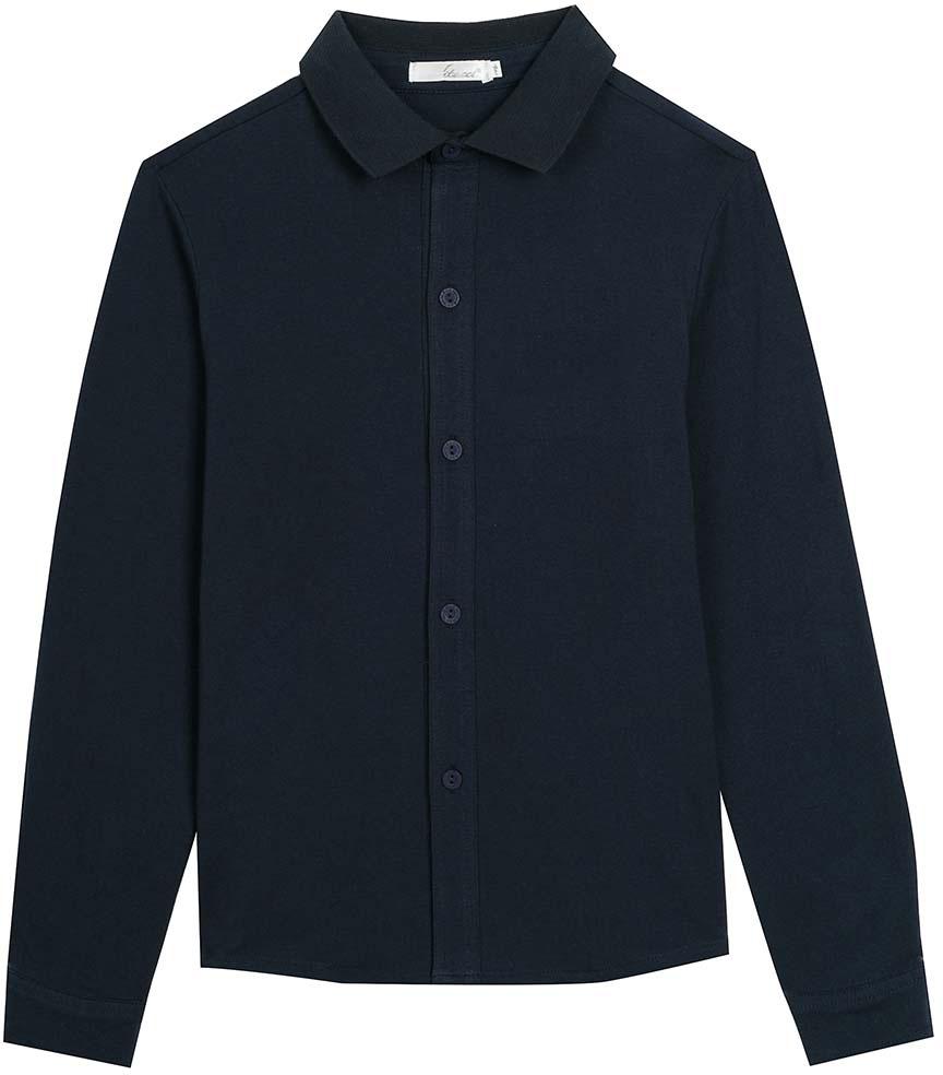 Рубашка для мальчика Vitacci, цвет: темно-синий. 1173011M-04. Размер 1581173011M-04Рубашка для мальчика выполнена из качественного материала. Модель с отложным воротником и длинными рукавами застегивается на пуговицы.