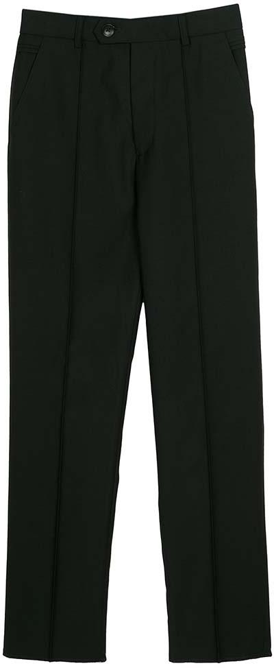 Брюки для мальчика Vitacci, цвет: черный. 1173033-03. Размер 1401173033-03Классические школьные брюки выполнены из качественного материала. Модель застегивается на комбинированную застежку, имеются шлевки для ремня.