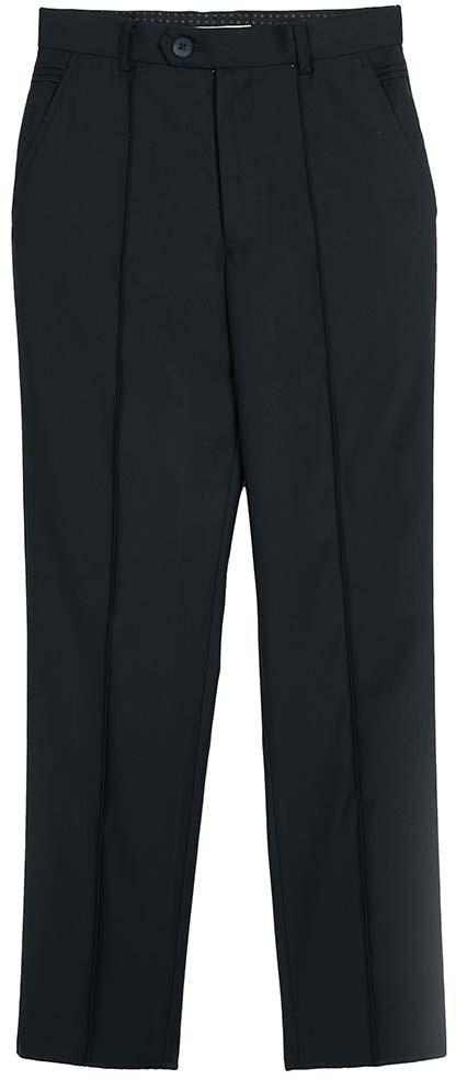 Брюки для мальчика Vitacci, цвет: темно-синий. 1173033-04. Размер 1281173033-04Классические школьные брюки выполнены из качественного материала. Модель застегивается на комбинированную застежку, имеются шлевки для ремня.