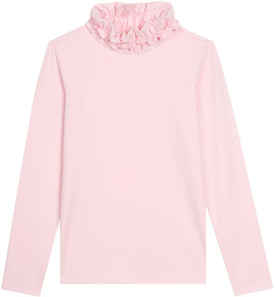 Водолазка для девочки Vitacci, цвет: розовый. 2173087-11. Размер 1342173087-11Водолазка для девочки выполнена из хлопка и эластана. Модель с длинными рукавами.