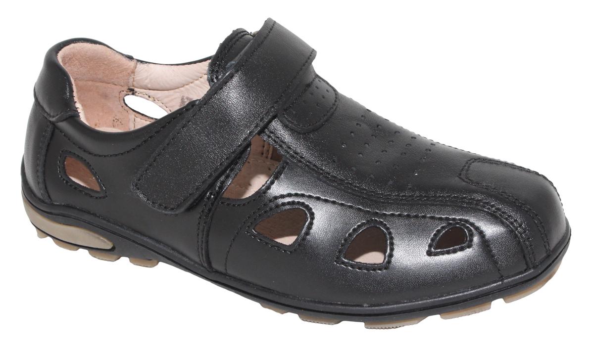 Полуботинки для мальчика Капитошка, цвет: черный. A7141. Размер 34A7141Стильные полуботинки от Капитошка займут достойное место среди коллекции обуви вашего мальчика. Модель выполнена из натуральной и искусственной кожи. Сквозная перфорация обеспечивает естественную вентиляцию. Ремешок с застежкой-липучкой надежно зафиксирует обувь на ноге. Внутренняя поверхность и стелька из натуральной кожи, обеспечат ногам комфорт и уют. Подошва с рифлением обеспечивает отличное сцепление с любой поверхностью. Трендовые полуботинки придутся по душе вашему мальчику.