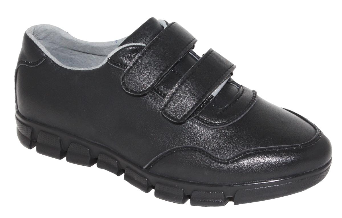 Полуботинки для мальчика Капитошка, цвет: черный. C7452. Размер 36C7452Стильные полуботинки от Капитошка займут достойное место среди коллекции обуви вашего мальчика. Модель выполнена из искусственной кожи. Ремешки-липучки надежно зафиксируют обувь ноге. Внутренняя поверхность и стелька из натуральной кожи, обеспечат ногам комфорт и уют. Подошва с рифлением обеспечивает отличное сцепление с любой поверхностью. Трендовые полуботинки придутся по душе вашему мальчику.