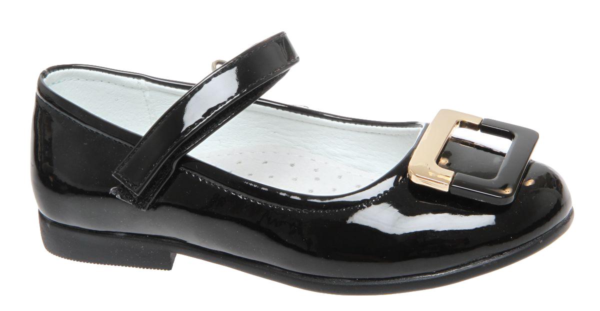 Туфли для девочки Сказка, цвет: черный. R201322701. Размер 26R201322701Прелестные туфли от бренда Сказка придутся по душе вашей юной моднице! Модель изготовлена из комбинации натуральной и искусственной кожи. Мыс туфель оформлен стильной пряжкой. Ремешок с застежкой-липучкой отвечает за надежную фиксацию модели на ноге. Внутренняя поверхность из натуральной кожи не натирает. Стелька из материала ЭВА с поверхностью из натуральной кожи дополнена супинатором, который обеспечивает правильное положение ноги ребенка при ходьбе, предотвращает плоскостопие. Подошва с рифлением обеспечивает идеальное сцепление с любыми поверхностями. Стильные туфли - незаменимая вещь в гардеробе каждой девочки.