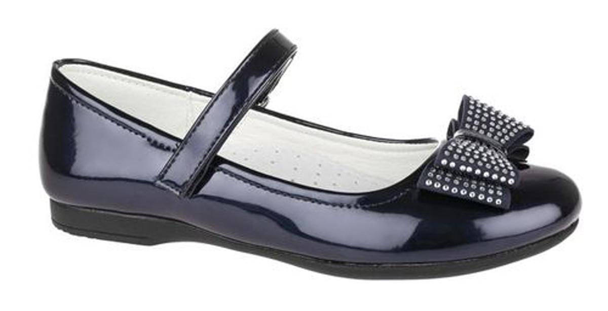 Туфли для девочки Сказка, цвет: темно-синий. R323023216. Размер 34R323023216Прелестные туфли от бренда Сказка придутся по душе вашей юной моднице! Модель изготовлена из комбинации натуральной и искусственной кожи. Мыс туфель оформлен бантом со стразами. Ремешок с застежкой-липучкой отвечает за надежную фиксацию модели на ноге. Внутренняя поверхность из натуральной кожи не натирает. Стелька из материала ЭВА с поверхностью из натуральной кожи дополнена супинатором, который обеспечивает правильное положение ноги ребенка при ходьбе, предотвращает плоскостопие. Подошва с рифлением обеспечивает идеальное сцепление с любыми поверхностями. Стильные туфли - незаменимая вещь в гардеробе каждой девочки.