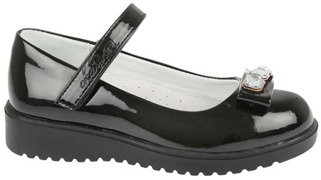 Туфли для девочки Сказка, цвет: черный. R856922715. Размер 25R856922715Прелестные туфли от бренда Сказка придутся по душе вашей юной моднице! Модель изготовлена из комбинации натуральной и искусственной кожи. Мыс туфель декорирован бантом с фурнитурой. Ремешок с застежкой-липучкой отвечает за надежную фиксацию модели на ноге. Внутренняя поверхность из натуральной кожи не натирает. Стелька из материала ЭВА с поверхностью из натуральной кожи дополнена супинатором, который обеспечивает правильное положение ноги ребенка при ходьбе, предотвращает плоскостопие. Подошва с рифлением обеспечивает идеальное сцепление с любыми поверхностями. Стильные туфли - незаменимая вещь в гардеробе каждой девочки.