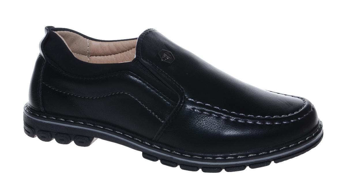 Мокасины для мальчика Мифер, цвет: черный. 7218A. Размер 337218AСтильные мокасины от бренда Мифер займут достойное место среди коллекции обуви вашего мальчика. Модель выполнена из искусственной кожи и оформлена декоративной прострочкой. Подъем дополнен эластичными вставками для наилучшей посадки обуви по ноге. Внутренняя поверхность и стелька, изготовленные из натуральной кожи, обеспечат ногам комфорт и уют. Подошва из легкого ТЭП-материала с рифлением гарантирует отличное сцепление с любой поверхностью. Модные мокасины придутся по душе вашему мальчику.