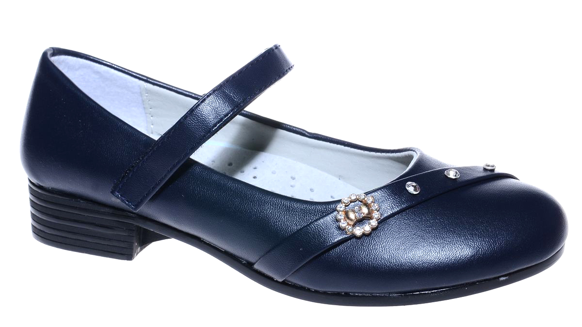 Туфли для девочки Мифер, цвет: черный. 7216K-1. Размер 337216K-1Прелестные туфли от бренда Мифер придутся по душе вашей юной моднице! Модель изготовлена из искусственной кожи и оформлена на мысе стразами и стильной фурнитурой. Ремешок с застежкой-липучкой отвечает за надежную фиксацию модели на ноге. Внутренняя поверхность из натуральной кожи не натирает. Стелька из кожи дарит комфорт при носке. Подошва с рифлением обеспечивает идеальное сцепление с любыми поверхностями. Стильные туфли - незаменимая вещь в гардеробе каждой девочки.