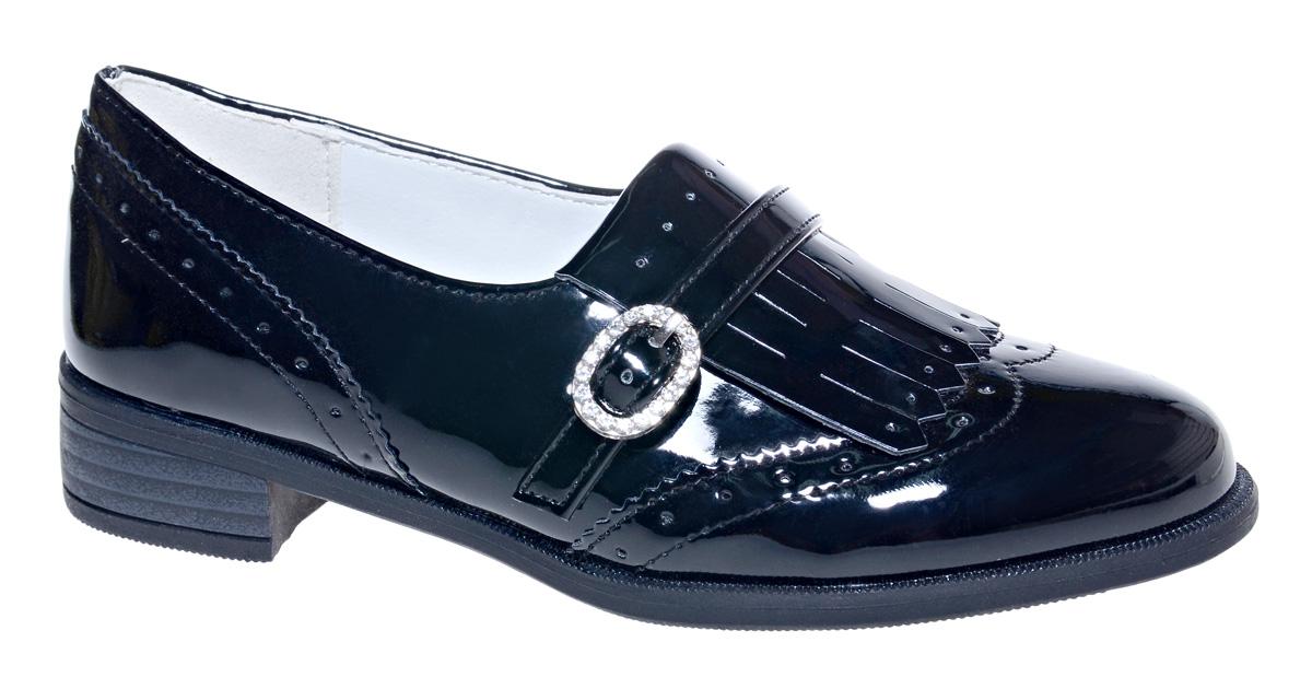 Туфли для девочки М+Д, цвет: черный. 7817_1. Размер 367817_1Стильные туфли для девочки от М+Д выполнены из искусственной лаковой кожи. Модель на небольшом квадратном каблуке на подъеме оформлена декоративным элементом.