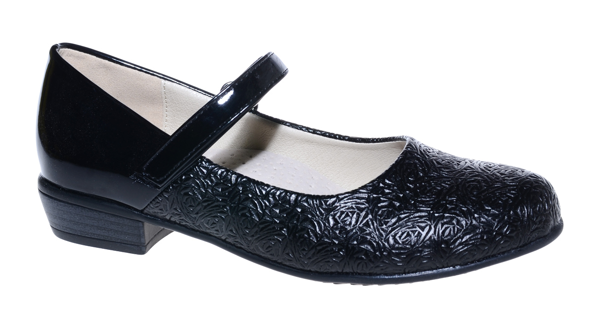 Туфли для девочки М+Д, цвет: черный. 7833_1. Размер 337833_1Стильные туфли для девочки от М+Д выполнены из фактурной искусственной кожи. Модель на небольшом квадратном каблуке на подъеме фиксируется при помощи ремешка на липучке.