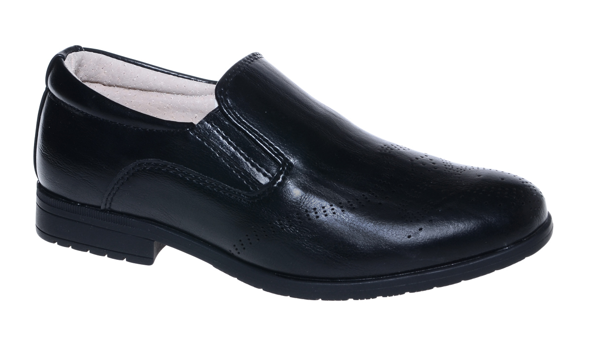 Полуботинки для мальчика М+Д, цвет: черный. 7897. Размер 347897Стильные полуботинки для мальчика от М+Д выполнены из искусственной кожи. Модель на низком квадратном каблуке на подъеме дополнена эластичными вставками.