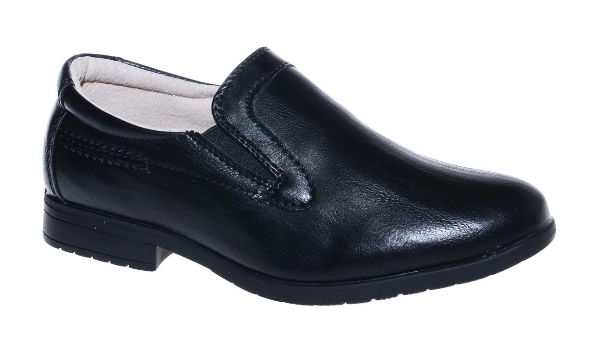 Полуботинки для мальчика М+Д, цвет: черный. 7900. Размер 317900Стильные полуботинки для мальчика от М+Д выполнены из искусственной кожи. Модель на низком квадратном каблуке на подъеме дополнена эластичными вставками.