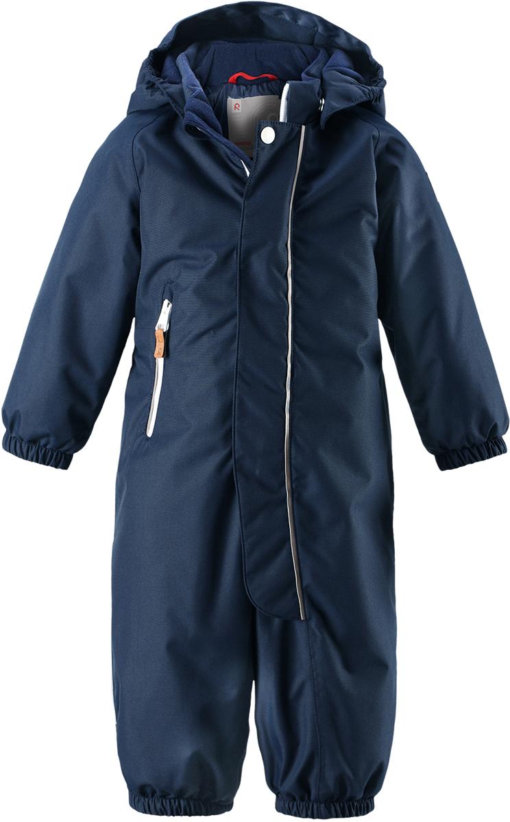 Комбинезон утепленный детский Reima Reimatec Puhuri, цвет: синий. 5102626980. Размер 805102626980Утеплитель: 160 гМембрана: 8000Температурный режим: от +5°C до -20°C
