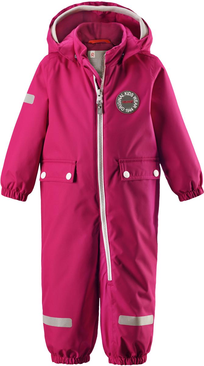 Комбинезон утепленный для девочек Reima Reimatec Fangan, цвет: розовый. 5102633560. Размер 925102633560