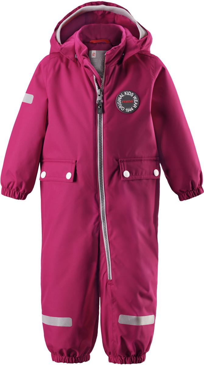 Комбинезон утепленный для девочек Reima Reimatec Fangan, цвет: розовый. 5102633920. Размер 925102633920