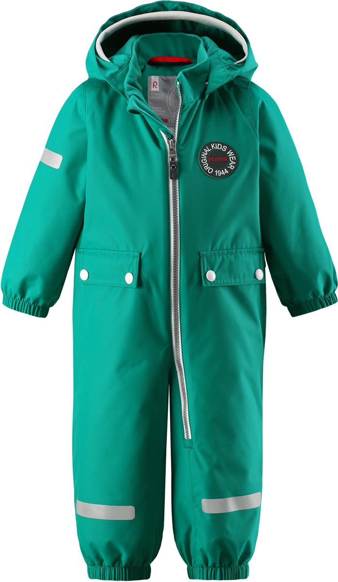 Комбинезон утепленный детский Reima Reimatec Fangan, цвет: зеленый. 5102638860. Размер 865102638860