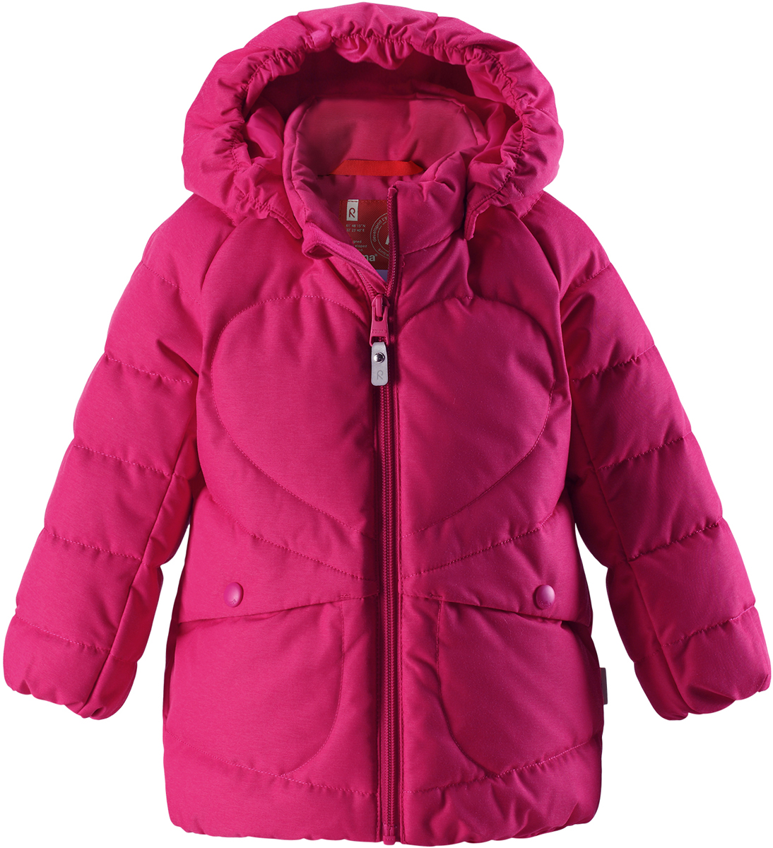 Пуховик для девочки Reima Loiste, цвет: розовый. 5112603560.