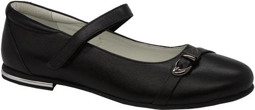 Туфли для девочки Зебра, цвет: черный. 11816-1. Размер 3711816-1Стильные туфли для девочки Зебра гарантируют здоровое и правильное развитие ног ребенка.Модель выполнена из натуральной кожи и оформлена декоративной пряжкой. Внутренняя отделка выполнена из натуральной кожи. Туфли имеют внутреннюю форму, которая соответствует анатомическому строению стопы ребенка, что гарантирует комфортное положение ноги и обеспечивает условия, необходимые для ее роста и нормального функционирования. Удобная застежка-липучка быстро и надежно фиксирует обувь на ноге ребенка, а формованный жесткий задник, плотно охватывающий пятку, обеспечивает правильную установку стопы внутри туфель, предотвращая развитие деформаций.Стелька с супинатором, изготовленная из натуральной кожи, учитывает анатомические особенности строения детской стопы, обеспечивает им наилучшую защиту и профилактику от развития плоскостопия, гарантирует ногам ребенка ощущение комфорта и легкости при ходьбе, уменьшает усталость мышц и связок.Рифленая подошва туфель из легкого полимерного термопластичного материала обладает высокой прочностью, гибкостью, надежным сцеплением с различными покрытиями, не пачкает полы и оставляет следов и полос.