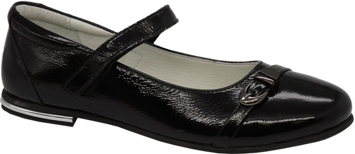 Туфли для девочки Зебра, цвет: черный. 11817-1. Размер 3311817-1Стильные туфли для девочки Зебра гарантируют здоровое и правильное развитие ног ребенка.Модель выполнена из натуральной кожи и оформлена декоративной пряжкой. Внутренняя отделка выполнена из натуральной кожи. Туфли имеют внутреннюю форму, которая соответствует анатомическому строению стопы ребенка, что гарантирует комфортное положение ноги и обеспечивает условия, необходимые для ее роста и нормального функционирования. Удобная застежка-липучка быстро и надежно фиксирует обувь на ноге ребенка, а формованный жесткий задник, плотно охватывающий пятку, обеспечивает правильную установку стопы внутри туфель, предотвращая развитие деформаций.Стелька с супинатором, изготовленная из натуральной кожи, учитывает анатомические особенности строения детской стопы, обеспечивает им наилучшую защиту и профилактику от развития плоскостопия, гарантирует ногам ребенка ощущение комфорта и легкости при ходьбе, уменьшает усталость мышц и связок.Рифленая подошва туфель из легкого полимерного термопластичного материала обладает высокой прочностью, гибкостью, надежным сцеплением с различными покрытиями, не пачкает полы и оставляет следов и полос.