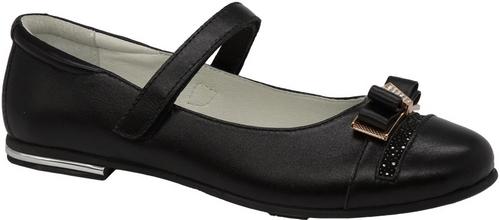 Туфли для девочки Зебра, цвет: черный. 11820-1. Размер 3311820-1Стильные туфли для девочки Зебра гарантируют здоровое и правильное развитие ног ребенка.Модель выполнена из натуральной кожи и оформлена бантиком с декоративными элементами. Внутренняя отделка выполнена из натуральной кожи. Туфли имеют внутреннюю форму, которая соответствует анатомическому строению стопы ребенка, что гарантирует комфортное положение ноги и обеспечивает условия, необходимые для ее роста и нормального функционирования. Удобная застежка-липучка быстро и надежно фиксирует обувь на ноге ребенка, а формованный жесткий задник, плотно охватывающий пятку, обеспечивает правильную установку стопы внутри туфель, предотвращая развитие деформаций.Стелька с супинатором, изготовленная из натуральной кожи, учитывает анатомические особенности строения детской стопы, обеспечивает им наилучшую защиту и профилактику от развития плоскостопия, гарантирует ногам ребенка ощущение комфорта и легкости при ходьбе, уменьшает усталость мышц и связок.Рифленая подошва туфель из легкого полимерного термопластичного материала обладает высокой прочностью, гибкостью, надежным сцеплением с различными покрытиями, не пачкает полы и оставляет следов и полос.