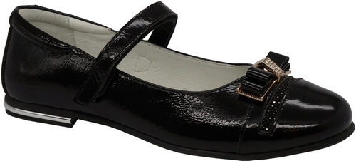 Туфли для девочки Зебра, цвет: черный. 11821-1. Размер 3611821-1Стильные туфли для девочки Зебра гарантируют здоровое и правильное развитие ног ребенка.Модель выполнена из натуральной кожи и оформлена бантиком с декоративными элементами. Внутренняя отделка выполнена из натуральной кожи. Туфли имеют внутреннюю форму, которая соответствует анатомическому строению стопы ребенка, что гарантирует комфортное положение ноги и обеспечивает условия, необходимые для ее роста и нормального функционирования. Удобная застежка-липучка быстро и надежно фиксирует обувь на ноге ребенка, а формованный жесткий задник, плотно охватывающий пятку, обеспечивает правильную установку стопы внутри туфель, предотвращая развитие деформаций.Стелька с супинатором, изготовленная из натуральной кожи, учитывает анатомические особенности строения детской стопы, обеспечивает им наилучшую защиту и профилактику от развития плоскостопия, гарантирует ногам ребенка ощущение комфорта и легкости при ходьбе, уменьшает усталость мышц и связок.Рифленая подошва туфель из легкого полимерного термопластичного материала обладает высокой прочностью, гибкостью, надежным сцеплением с различными покрытиями, не пачкает полы и оставляет следов и полос.