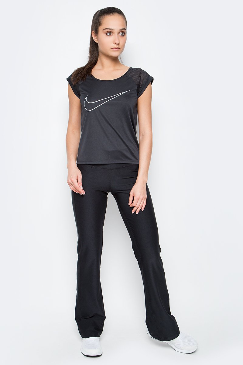 Брюки для фитнеса женские Nike W Nk Dry Pant Poly Classic, цвет: черный. 803064-010. Размер XS (40/42)803064-010Брюки Nike W NK Dry Pan Poly Classic из текстиля Dri-FIT, выводящего лишнюю влагу с поверхности кожи. Классическая посадка, прямой крой, внутренний карман, пояс на резинке.
