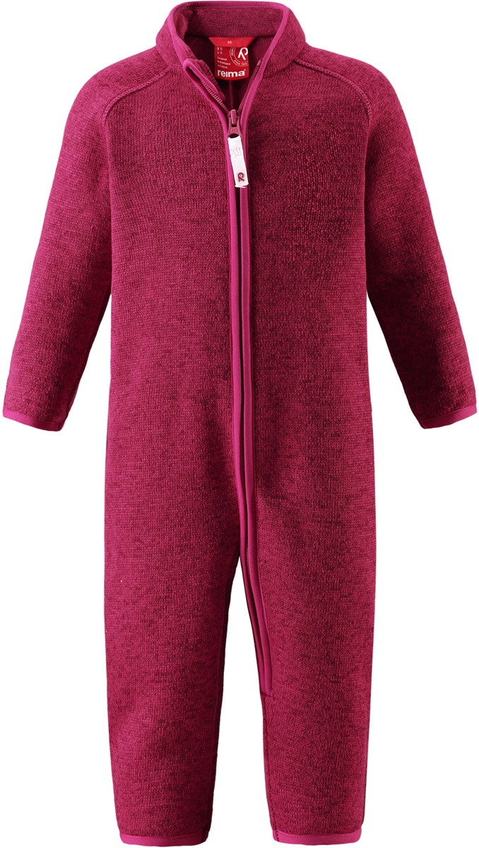 Комбинезон флисовый детский Reima Tahti, цвет: фуксия. 5163203560. Размер 865163203560Легкий и мягкий флисовый комбинезон, поддетый под верхнюю одежду, согреет малышей в морозные зимние дни, но при этом его можно носить и в помещении! Этот флисовый комбинезон для малышей снабжен молнией во всю длину, чтобы облегчить процесс надевания, и защитой для подбородка, которая не даст поцарапать шею и подбородок. Он сшит из мягкого и очень популярного меланжевого вязаного флиса, который объединил в себе стильный вязаный дизайн и все преимущества флиса: теплый и приятный на ощупь флис быстро сохнет, выводя влагу в верхние слои одежды – идеальный выбор для активных прогулок и веселых приключений на свежем воздухе!