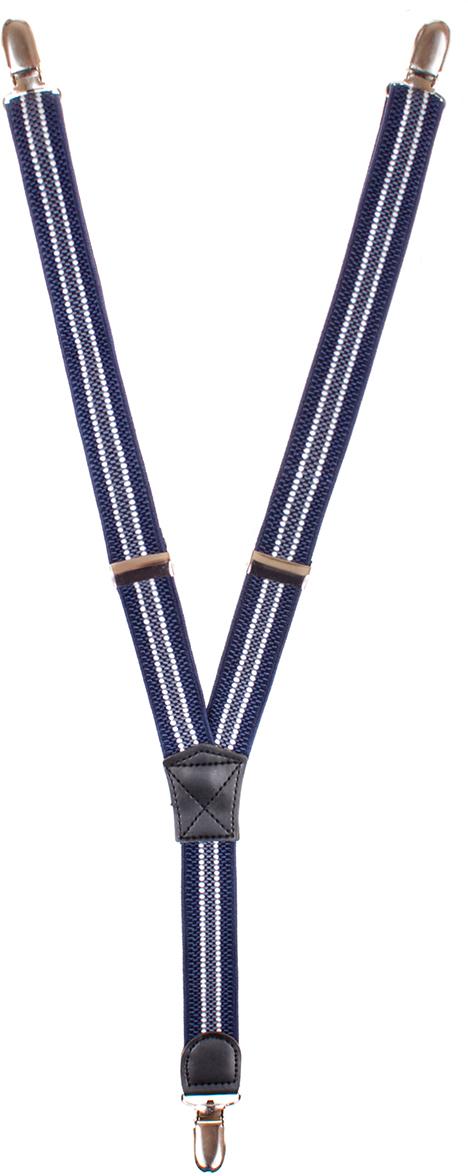 Подтяжки детские Nota Bene, цвет: синий. П250070105-9. Размер универсальныйП250070105-9Стильные подтяжки Nota Bene выполнены из высококачественного полиэстера. Изделие можно регулировать по длине.