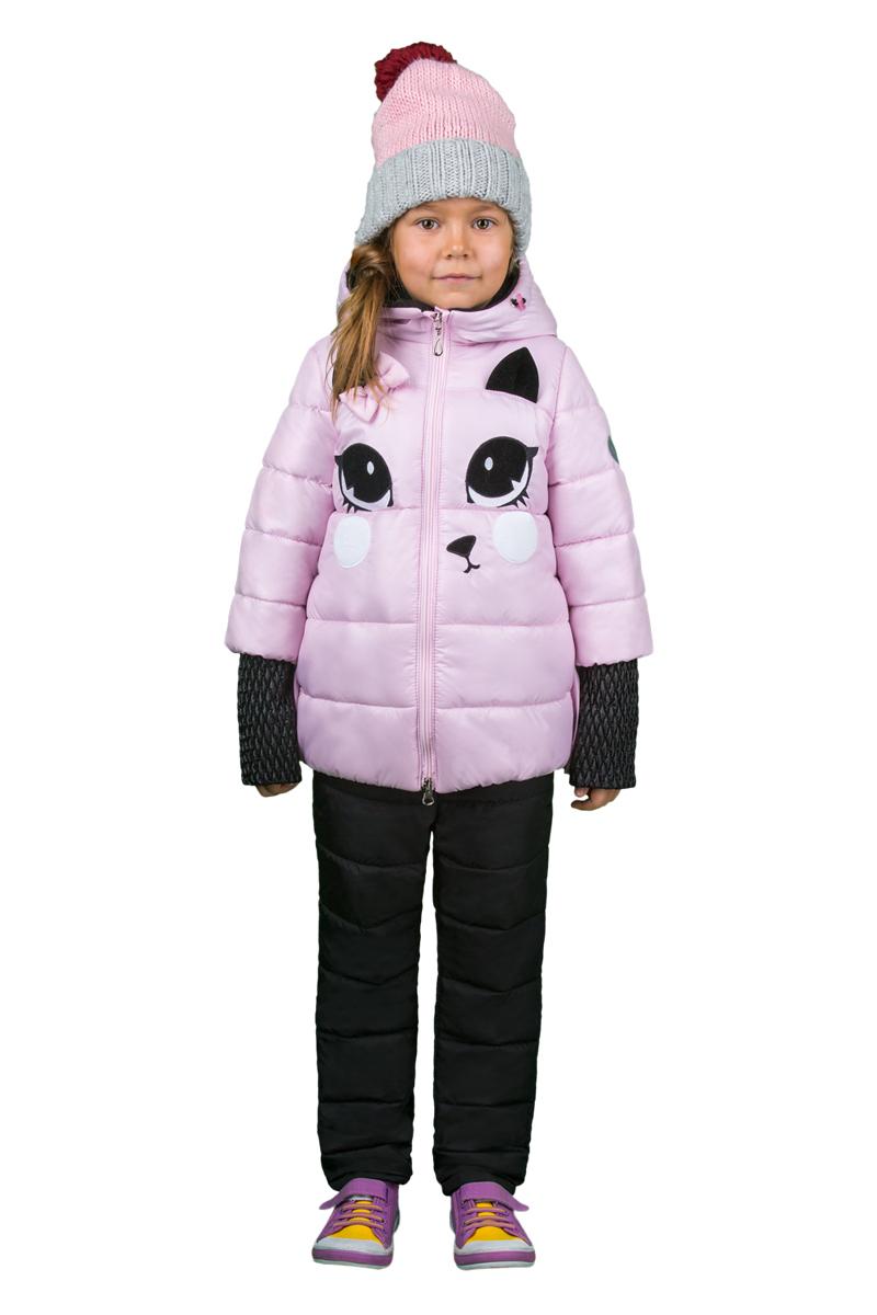 Комплект верхней одежды для девочки Boom!: куртка, брюки, цвет: розовый, черный. 70348_BOG_вар.2. Размер 122, 7-8 лет70348_BOG_вар.2Комплект верхней одежды для девочки Boom! состоит из куртки и брюк. Комплект выполнен из полиэстера. Куртка с капюшоном застегивается спереди на молнию. Капюшондополнен шнурком-кулиской со стопперами. Рукава с эффектом 2в1, препятствующие проникновению холодного воздуха. Спереди расположены два прорезных кармана. Модель оформлена нашивкой в виде мордочки и бантиком. Теплые брюки дополнены на талии широкой резинкой.
