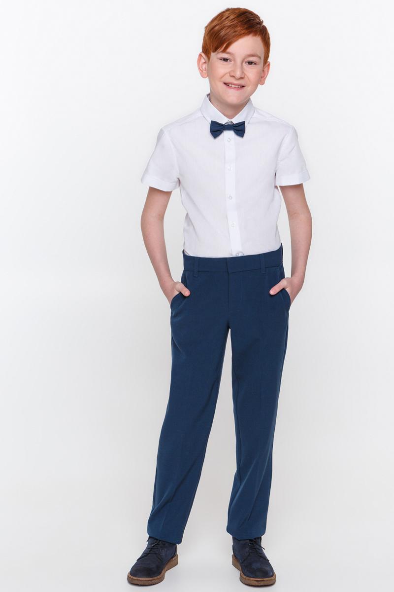 Рубашка для мальчика Overmoon Thalassey, цвет: белый. 21100290002_200. Размер 14021100290002_200Рубашка для мальчика Overmoon Thalassey выполнена из высококачественного материала. Модель с отложным воротником и короткими рукавами застегивается на пуговицы.