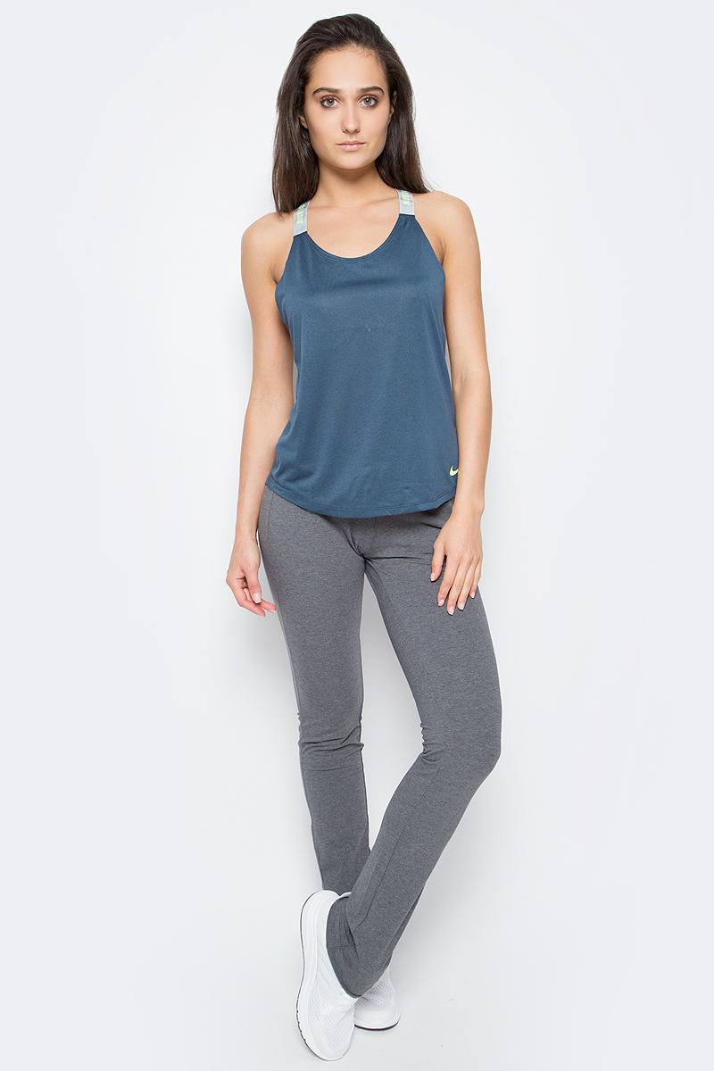 Брюки спортивные женские Nike Jersey Pant-Oh, цвет: серый. 614920-071. Размер S (42/44)614920-071Длинные спортивные брюки на завязках имеют прямой крой и классический дизайн, что делает их универсальными и комфортными. Благодаря немного свободному крою совершенно не сковывают движения, при этом достойно подчеркивают фигуру. Модель состоит из хлопка, что обеспечивает приятную носку. Подходят как для тренировок, так и для отдыха.