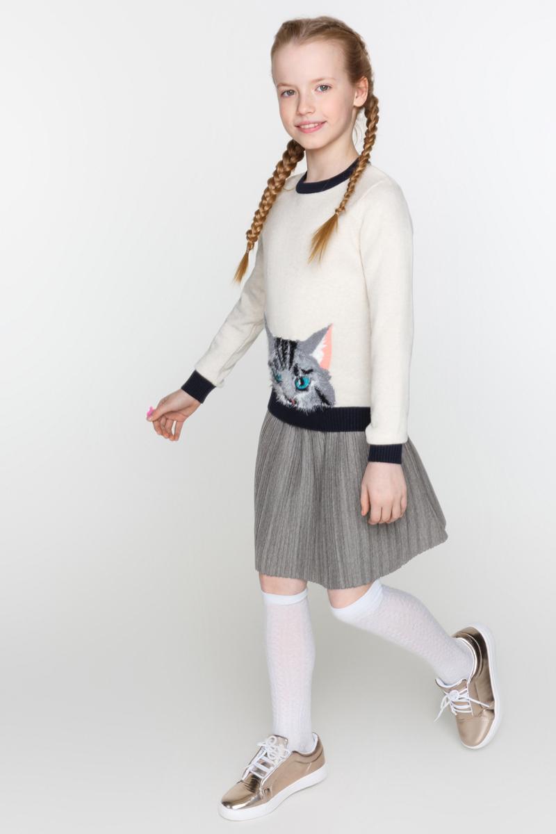 Юбка для девочки Acoola Siara, цвет: темно-серый. 20210180049_2000. Размер 140 acoola для девочки muse серый