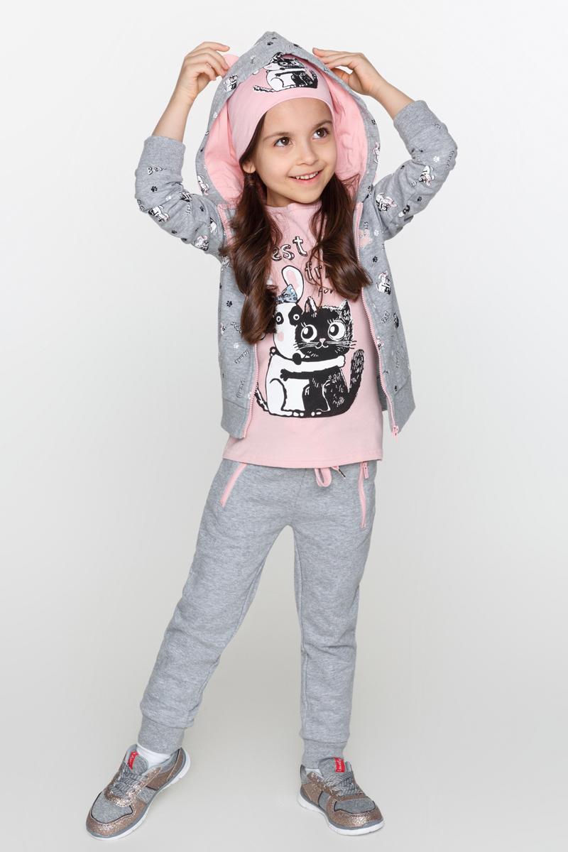 Толстовка для девочки Acoola Manson, цвет: серый. 20220130099_1900. Размер 128 acoola для девочки muse серый