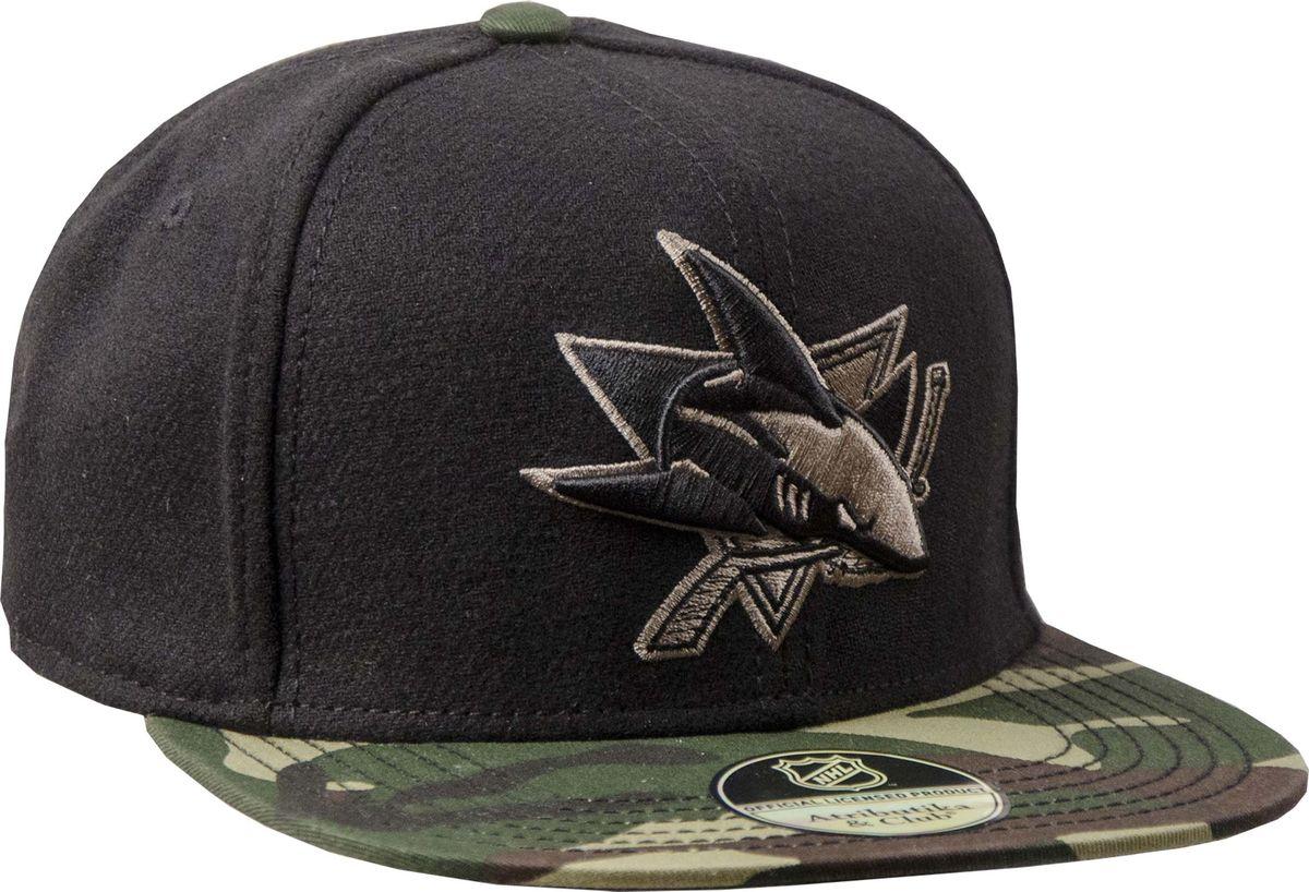 Бейсболка Atributika & Club San Jose Sharks, цвет: черный. 29077. Размер 55/58 - Хоккей