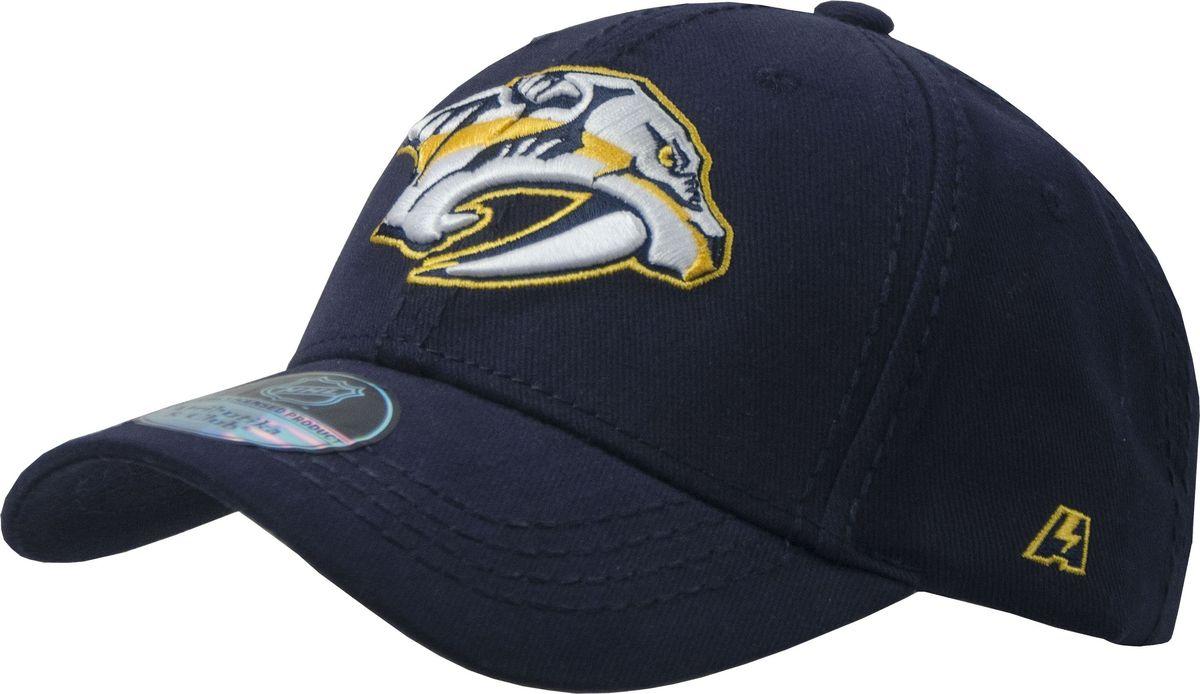 Бейсболка Atributika & Club Nashville Predators, цвет: темно-синий. 28124. Размер 55/58 - Хоккей