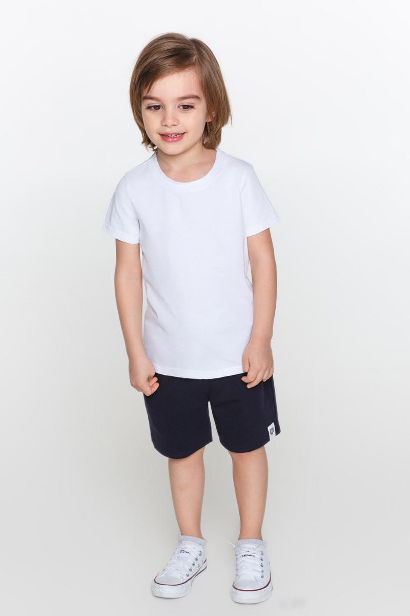 Футболка для мальчика Acoola Grond, цвет: белый. 20120110074_200. Размер 11620120110074_200Базовая футболка для мальчика Acoola Grond выполнена их натурального хлопка. Модель с короткими рукавами и круглым вырезом горловины.